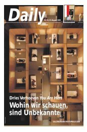 Dries Verhoeven You Are Here - Salzburger Festspiele