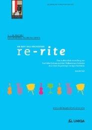 Lehrmaterial zu re-rite - Salzburger Festspiele
