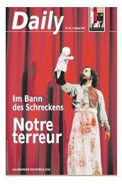 Daily #10 als PDF downloaden - Salzburger Festspiele