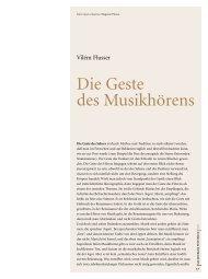 Die Geste des Musikhörens - Salzburger Festspiele