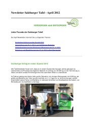 Newsletter Salzburger Tafel - April 2012