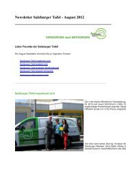 Newsletter Salzburger Tafel - August 2012