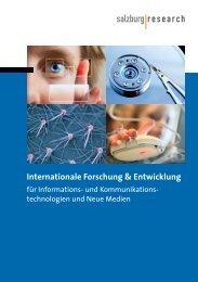 Internationale Forschung & Entwicklung - Salzburg Research ...