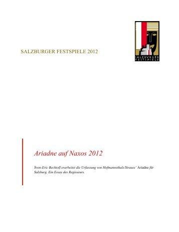 Ariadne auf Naxos 2012 - Salzburger Festspiele