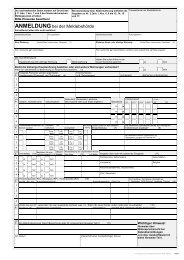 Anmeldung bei der Meldebehörde