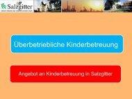 Informationen über die Kinderbetreuung in Salzgitter - Stadt Salzgitter