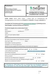 Ferienbetreuung Grundschule Ziesbergschule - Stadt Salzgitter