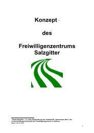 Konzept 1 des Freiwilligenzentrums Salzgitter - Stadt Salzgitter