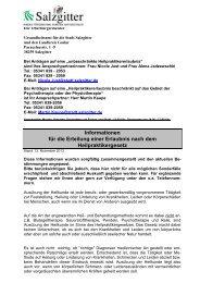 Anträge und Informationen für die Erteilung einer ... - Stadt Salzgitter