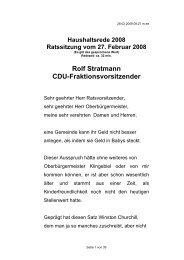 Haushaltsrede der CDU - Stadt Salzgitter