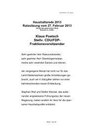 Haushaltsrede der CDU-Fraktion - Stadt Salzgitter