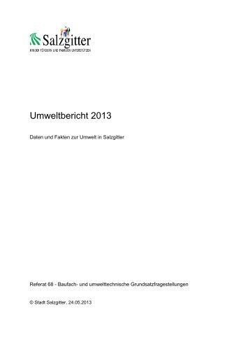 Umweltbericht 2013 - Stadt Salzgitter