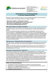 Informationen zur Kindertagespflege im Flecken Salzhemmendorf