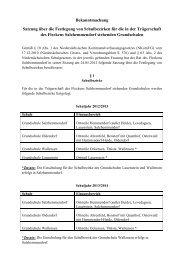 Satzung über die Festlegung von Schulbezirken - Flecken ...