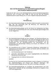 Satzung über die Rechtsstellung der Gleichstellungsbeauftragten ...