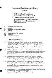 Haus- und Benutzungsordnung - Flecken Salzhemmendorf