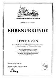EHRENURKUNDE - Flecken Salzhemmendorf