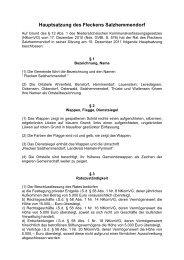 Hauptsatzung - Flecken Salzhemmendorf