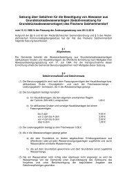 Gebührensatzung für Grundstücksabwasseranlagen - Flecken ...