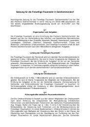 Satzung für die Freiwillige Feuerwehr in Salzhemmendorf - Flecken ...