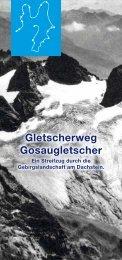 Broschüre 'Gletscherweg Gosaugletscher - Salzi.at
