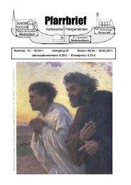 Pfarrbrief Nr. 15-18_2011 - Katholische Pfarrgemeinden ...