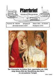 Der Clarenaltar im Kölner Dom, geschaffen um 1350, zeigt dieses ...