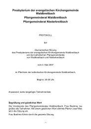 Presbyterium der evangelischen Kirchengemeinde Waldbreitbach ...