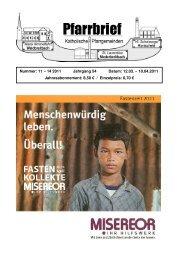 Pfarrbrief Nr. 11-14_2011 - Katholische Pfarrgemeinden ...