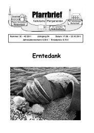 Pfarrbrief Nr. 38-42_2011 - Katholische Pfarrgemeinden ...