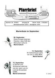 Marienfeste im September - Katholische Pfarrgemeinden ...
