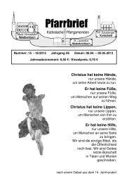 Pfarrbrief_Nr. 15-18_2013 - Katholische Pfarrgemeinden ...