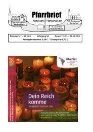 Pfarrbrief Nr. 47-50_2011 - Katholische Pfarrgemeinden ...