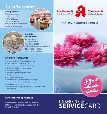Servicecard - Apotheke am Salinenhof