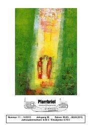 Pfarrbrief_Nr. 11-14_2013 - Katholische Pfarrgemeinden ...