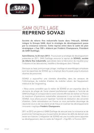 télécharger le communiqué de presse au format pdf - SAM Outillage