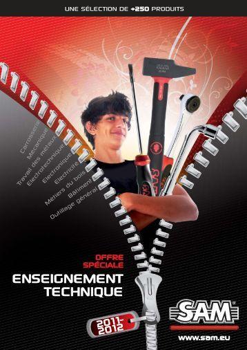 ENSEIGNEMENT TECHNIQUE 2011.indd - SAM Outillage