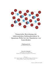 Numerische Berechnung der elektronischen ... - SAM - ETH Zürich