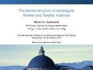 The kernel structure of rectangular Hankel and Toeplitz matrices - SAM