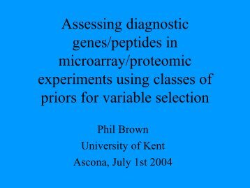 Bayesian Feature Selection for microarray and proteomic data - SAM