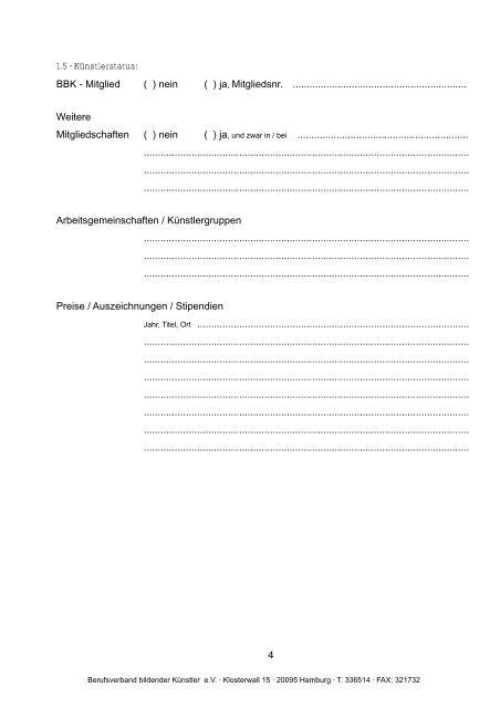 pdf-download - Berufsverband bildender Künstler eV Hamburg