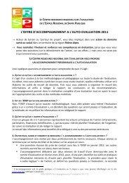 l'offre d'accompagnement a l'auto-evaluation 2011