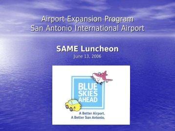 San Antonio International Airport Expansion Program - Same-satx.org