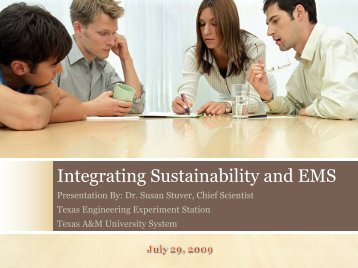 Integrating Sustainability and EMS - Same-satx.org