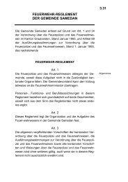 FEUERWEHR-REGLEMENT DER GEMEINDE SAMEDAN 3.31