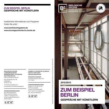 Flyer - Institut für Kunst - Humboldt-Universität zu Berlin