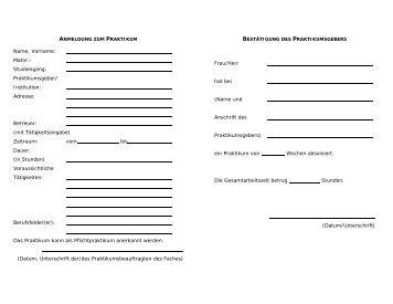 Praktikumsnachweis - Institut für Kunst- und Bildgeschichte ...
