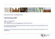 IKB – Absolvententag 2009 (pdf) - Institut für Kunst- und ...