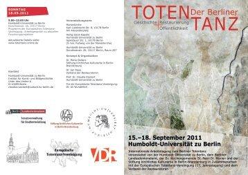 Berliner Totentanz – Flyer (pdf) - Institut für Kunst - Humboldt ...