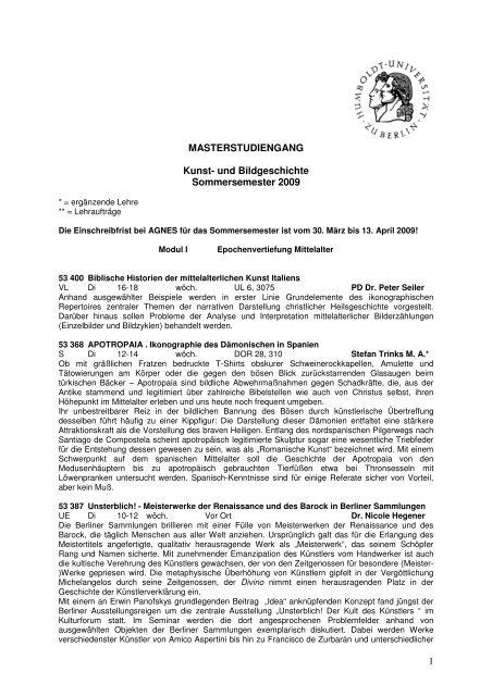 Master (pdf) - Institut für Kunst- und Bildgeschichte